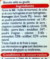 Biscuits saveur Gouda - Ingrédients - fr