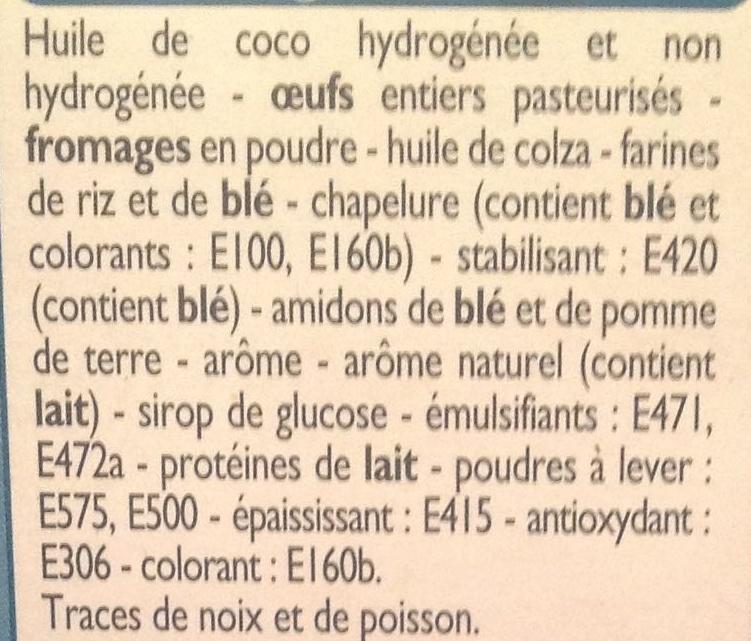Mini Choux saveur Bleu Noix - Ingrediënten