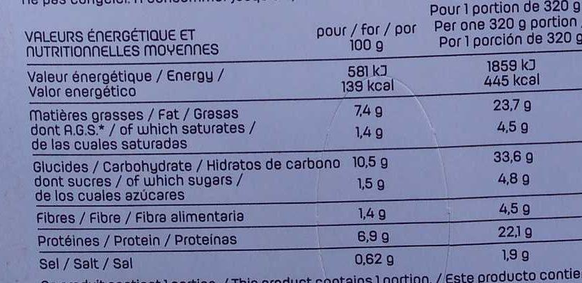 Leader snack - Informations nutritionnelles
