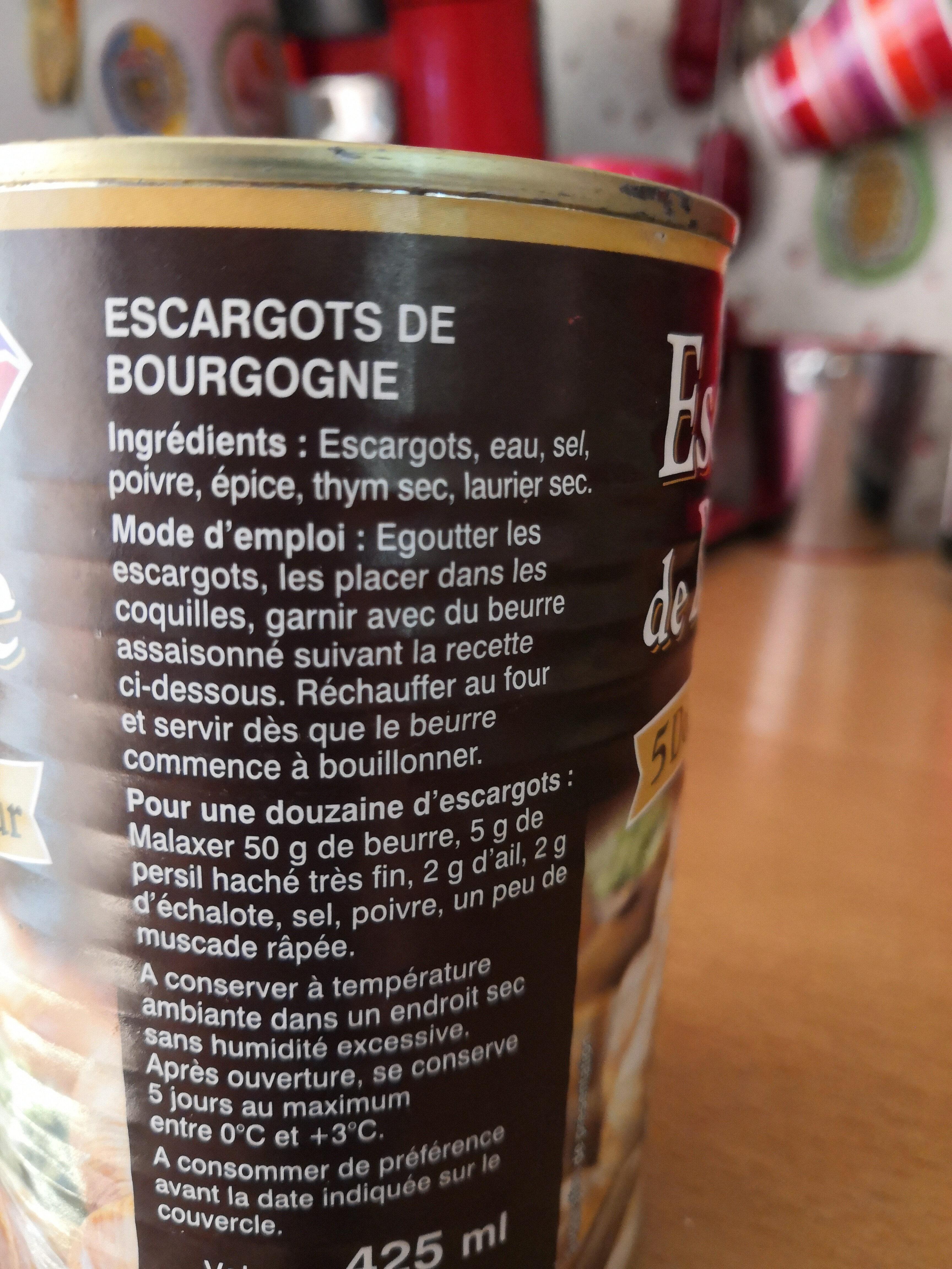escargots de Bourgogne - Ingredients