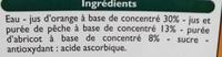 Nectar d'Orange Pêche-Abricot - Ingrediënten - fr