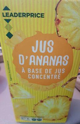 Jus d'ananas à base de jus concentré - Produit - fr