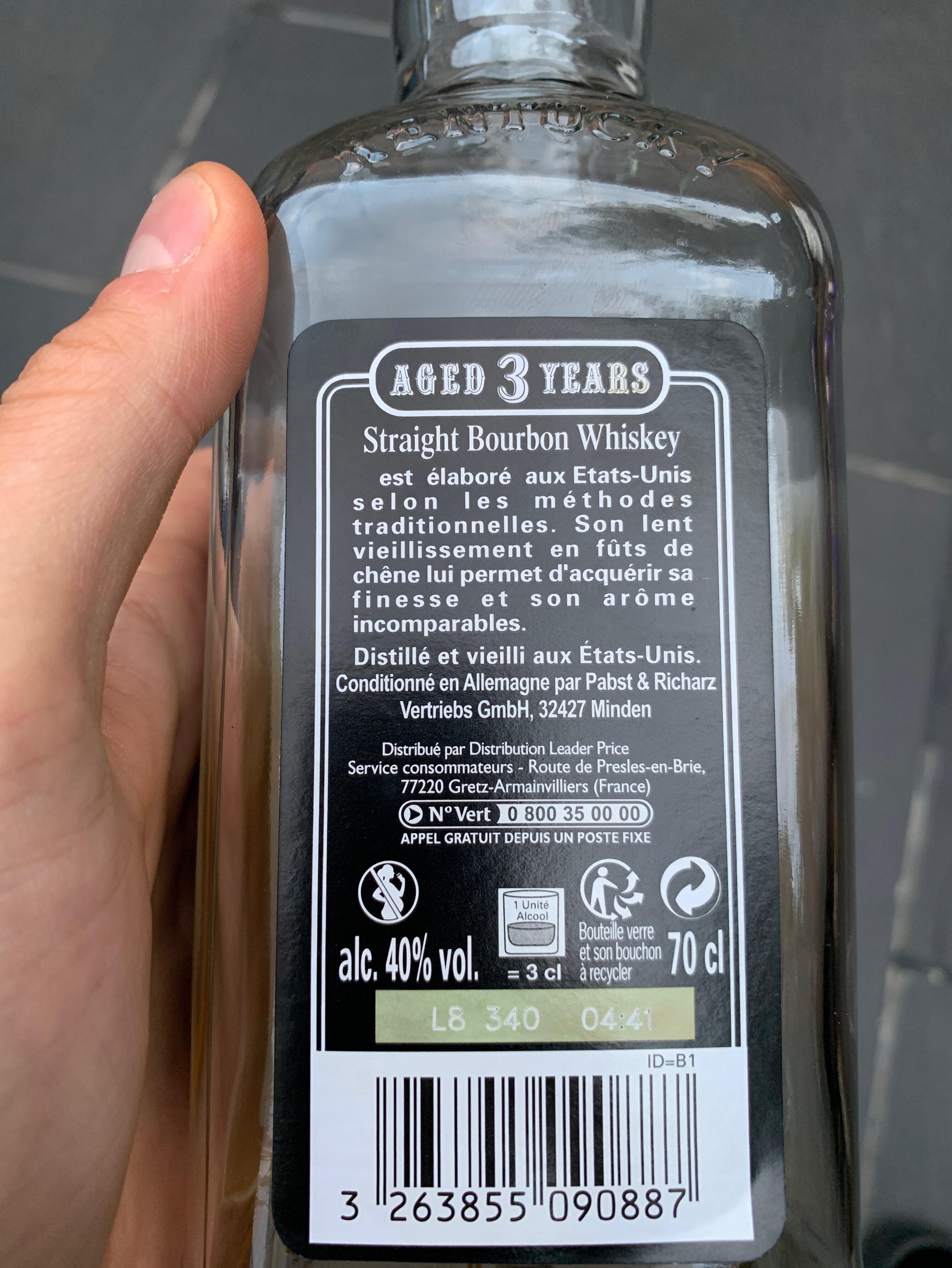 Âge 3 years bourbon - Ingrediënten