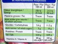 Nectar multifruits à l'extrait de Stévia - Voedingswaarden - fr