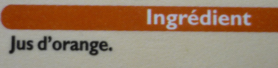 100 % jus d'orange - Ingrédients - fr