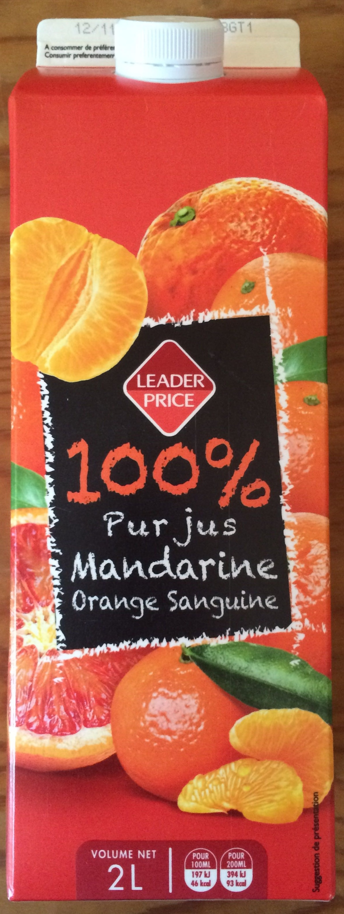 100% pur jus Mandarine Orange Sanguine - Product