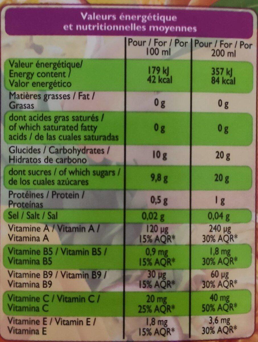 Jus multifruits 5 vitamines - Voedingswaarden - fr
