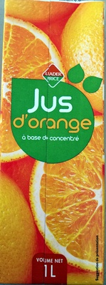 Jus d'orange à base de concentré - Product