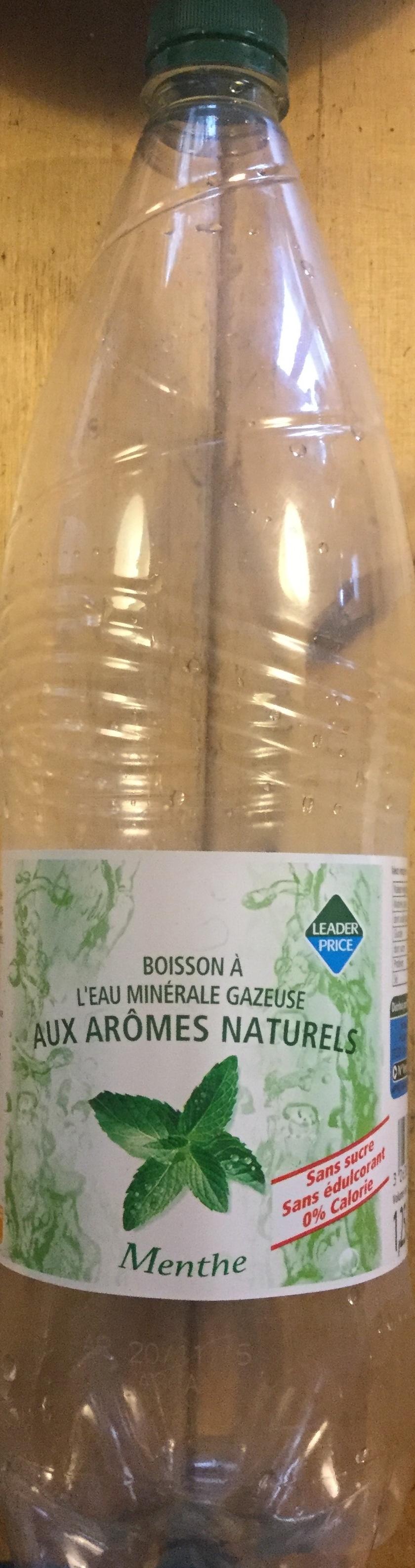 Boisson à l'eau minérale gazeuse aux arômes naturels menthe - Produit