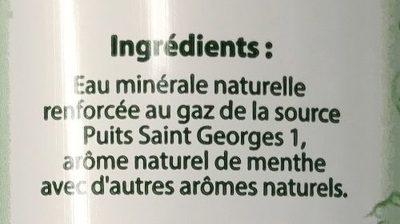 Boisson à l'eau minérale gazeuse aux arômes naturels menthe - Ingrédients