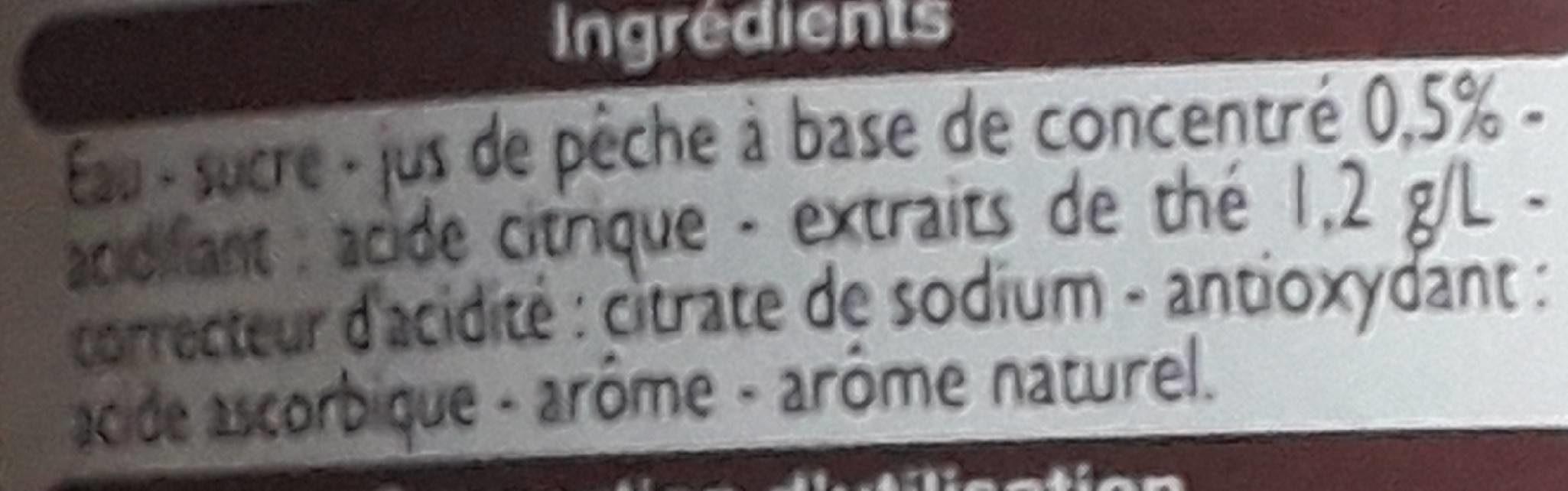 Thé glacé Saveur Pêche - Ingredients - fr