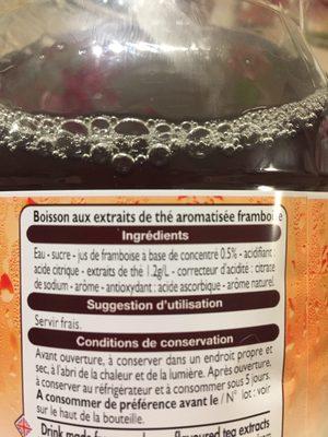 Thé glacé saveur framboise - Ingredients - fr