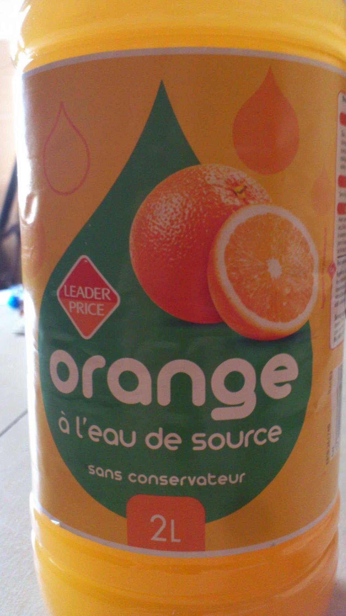 Orange à l'eau de source - Product - fr