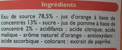 Orange à l'eau de source - Ingrediënten - fr