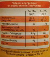 Orange à l'eau de source - Voedingswaarden - fr