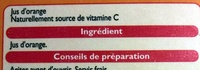 100 % Pur jus Orange - Ingrédients - fr