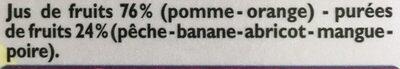 100% Pur Jus Multifruits - Ingrediënten - fr