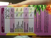 100% Pur Jus Multifruits - Voedingswaarden - fr