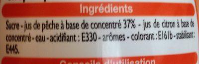 Sirop de pêche - Inhaltsstoffe - fr