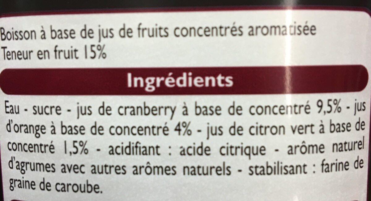 Cosmo-politan - Ingrediënten - fr