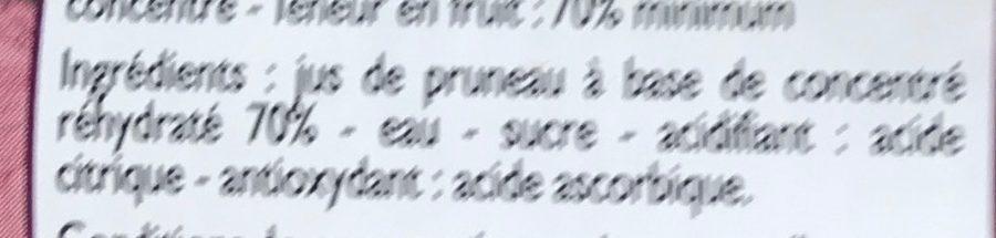 Nectar de Pruneau - Ingrédients - fr
