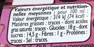 Nectar de Pruneau - Informations nutritionnelles - fr