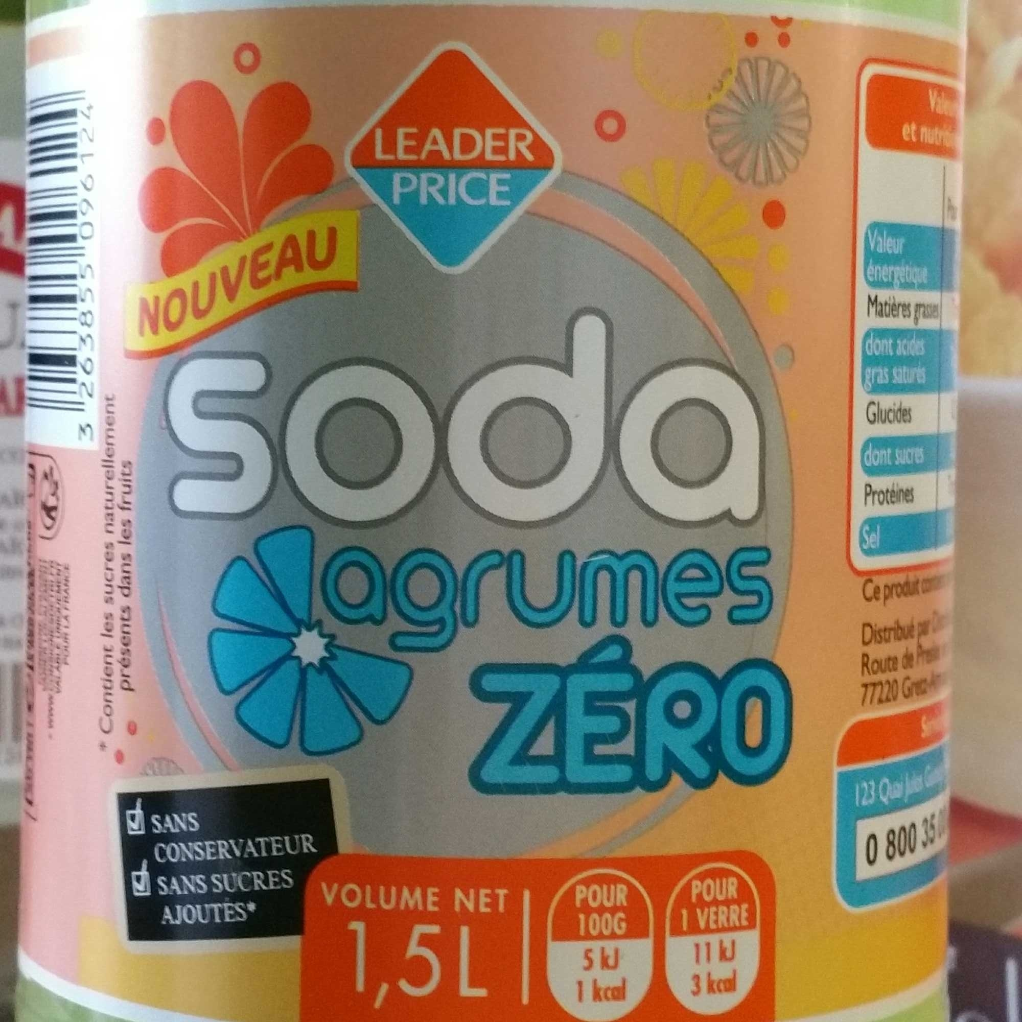 Soda agrumes zéro - Produit - fr