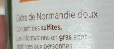 Cidre de Normandie doux - Ingredients - fr