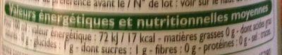 Citron - Informations nutritionnelles