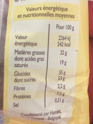 Chocolat trocadero - Nutrition facts - fr