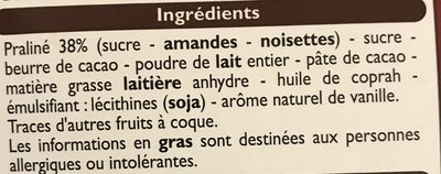 Escargots lait - Ingredients - fr