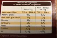 Escargots lait - Nutrition facts - fr