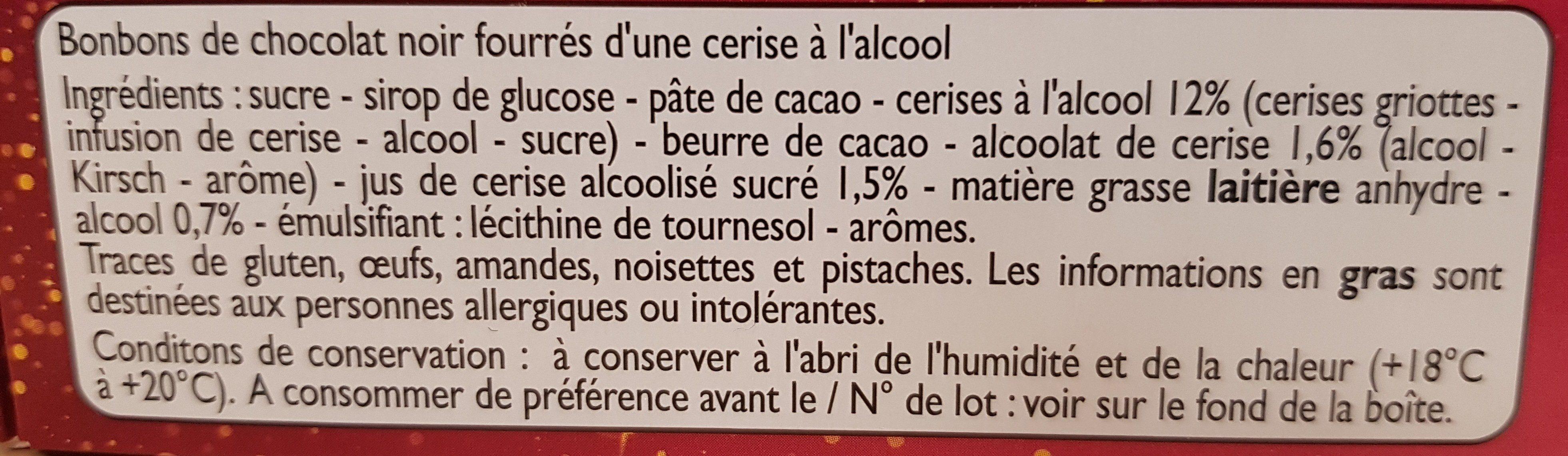 Cerise liqueur - Ingredients - fr