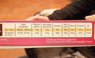 Cerise liqueur - Valori nutrizionali - fr