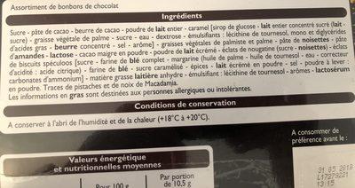 Création Et Chocolat - Ingredients