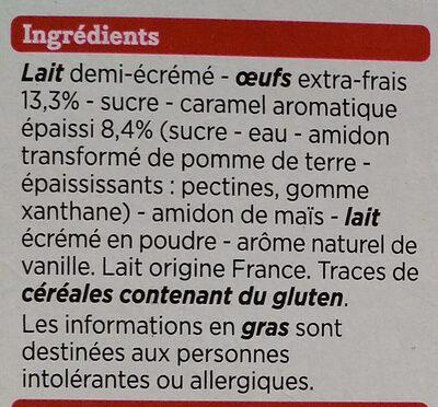 Crème Caramel aux Oeufs Frais - Ingrédients - fr