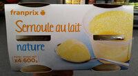 Franprix semoule au lait nature 4 x - Produit