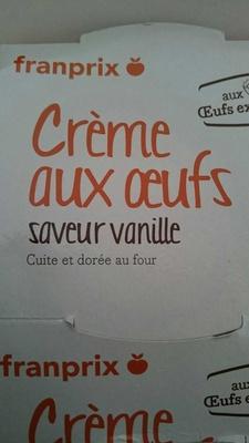 Crème aux oeufs saveur vanille - Produit