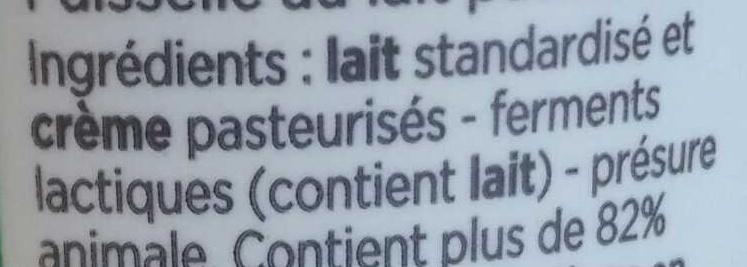 Faisselle - Ingredients - fr