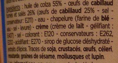 Tarama aux œufs de cabillaud fumés - Ingredientes