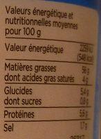 Tarama aux œufs de cabillaud fumés - Nutrition facts