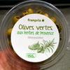 Olives vertes aux herbes de Provence dénoyautées - Product