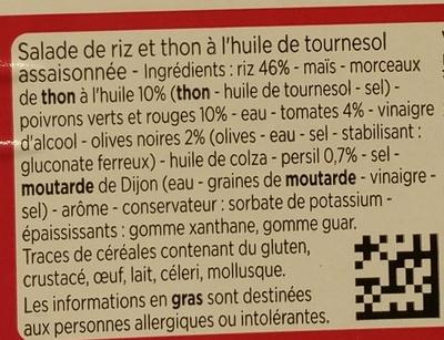 Riz niçois au thon - Ingrédients - fr