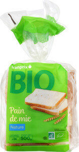 pain de mie grandes tranches nature bio - Product - fr