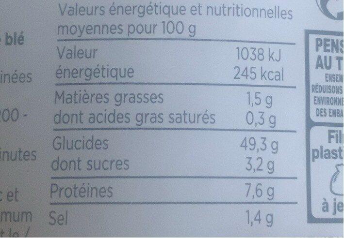 Mini Pain Blanc Precuits - Voedingswaarden - fr