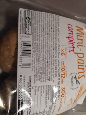 Mini pains complets - Ingrediënten - fr