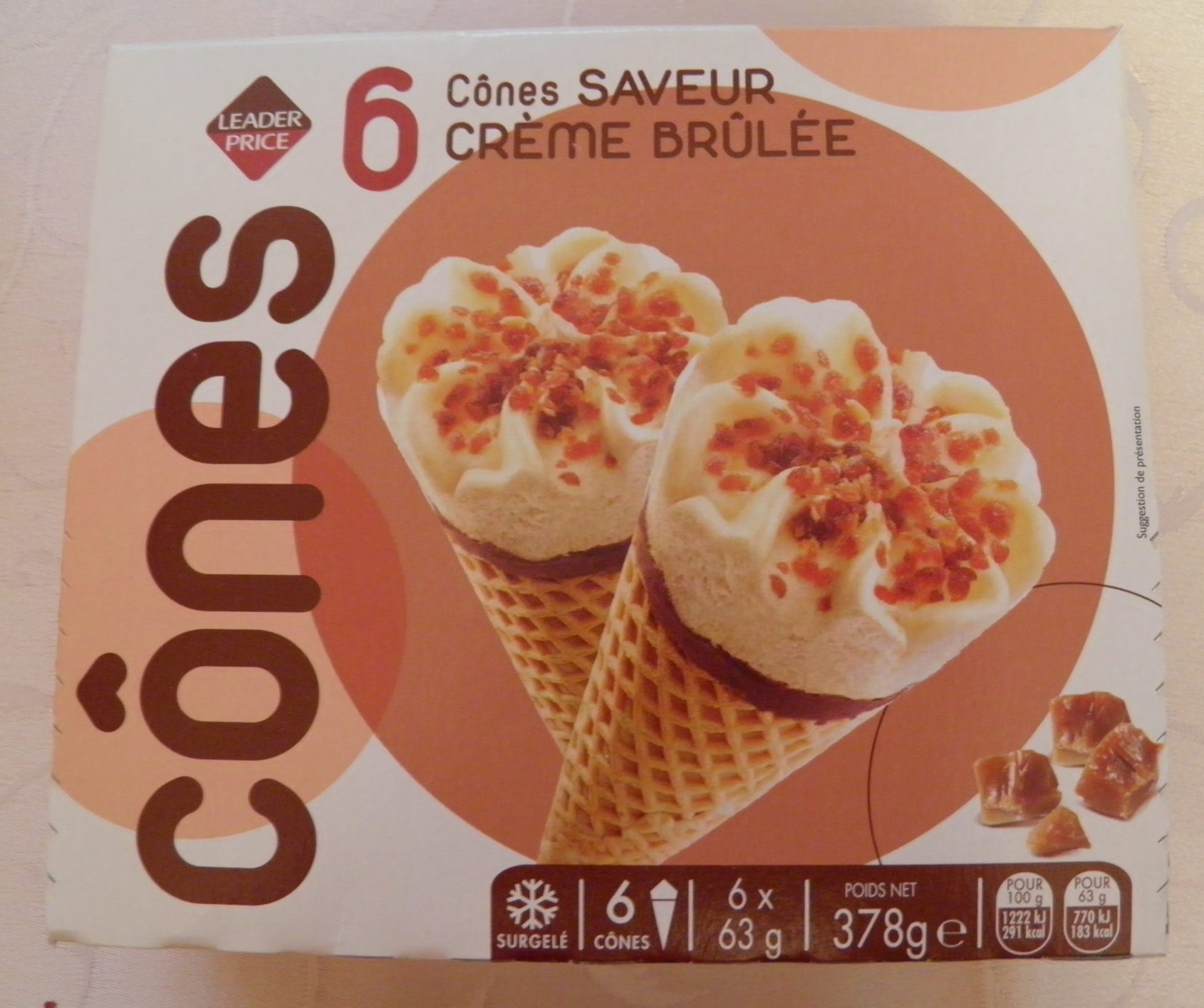 Cônes Saveur Crème brûlée - Produit