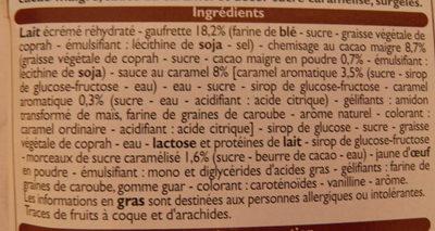 Cônes Saveur Crème brûlée - Ingrédients