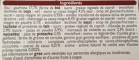 6 Cônes chocolat pistache - Ingredients