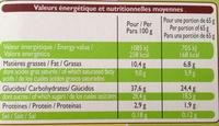 6 Cônes chocolat pistache - Nutrition facts